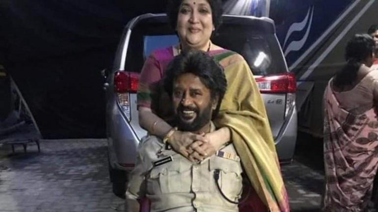 Latha with her husband Rajinikanth