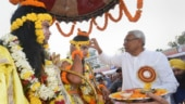 No BJP leader shares dias with Bihar CM Nitish Kumar at Dussehra celebrations in Patna