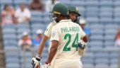 Keshav Maharaj and Vernon Philander registered best ninth-wicket stand between India and South Africa. (Courtesy by BCCI)