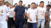 Maharashtra assembly polls: Devendra Fadnavis walks on Marine Drive to garner votes for BJP