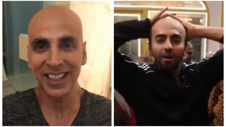 Akshay Kumar reacts to Ayushmann Khurrana's good luck video
