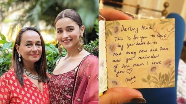 Alia Bhatt is missing mom Soni Razdan, shares note written by her