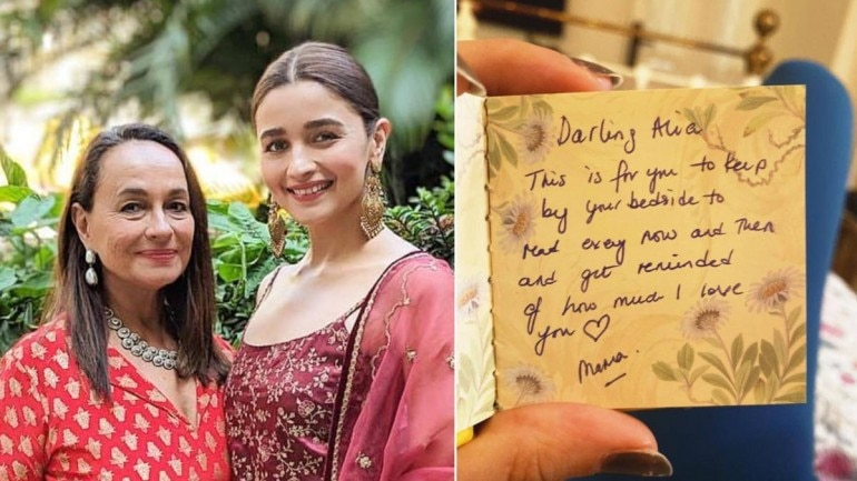 Alia Bhatt took to Instagram to share a note written by her mom Soni Razdan for the Kalank actress.
