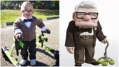 Boy with cerebral palsy dresses up as Carl from Up for Halloween. His precious smile goes viral