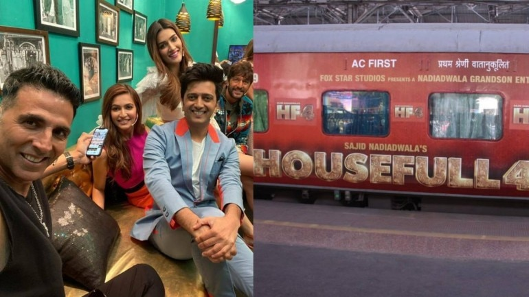 Housefull 4 actors boarded the train Housefull 4 Express from Mumbai to New Delhi to promote their film.