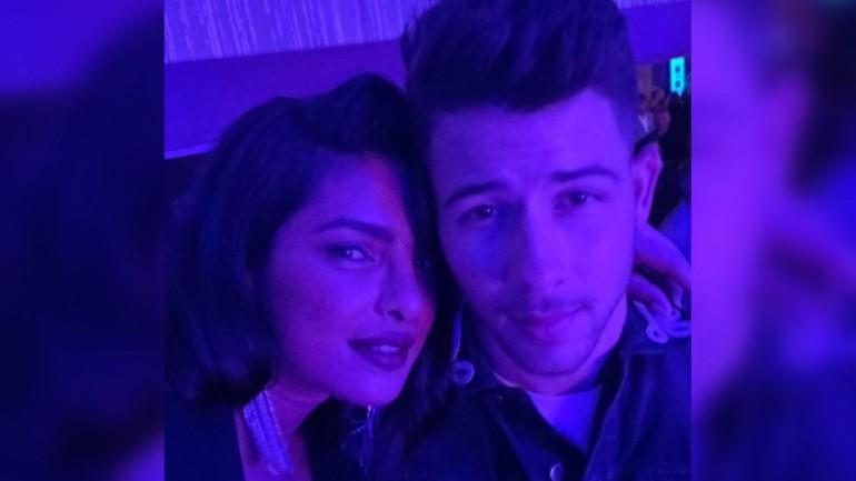 Priyanka Chopra and Nick Jonas at an event in Las Vegas Photo: Instagram/ Priyanka Chopra