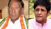Kiran Bedi, Puducherry CM Narayanasamy lock horns over riding two-wheeler without helmets