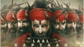 Saif Ali Khan in a poster on Laal Kaptaan.