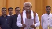 Manohar Lal Khattar, Dushyant Chautala take oath as Haryana CM, deputy CM