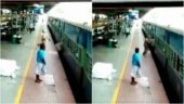 Man slips while boarding moving train in Coimbatore, RPF cop saves him. Scary CCTV video