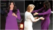 Meghan Markle rejects curtsy and goes for a warm hug at event in London. Watch viral video