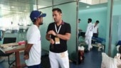 MS Dhoni spotted in dressing room after India's win over South Africa in Ranchi