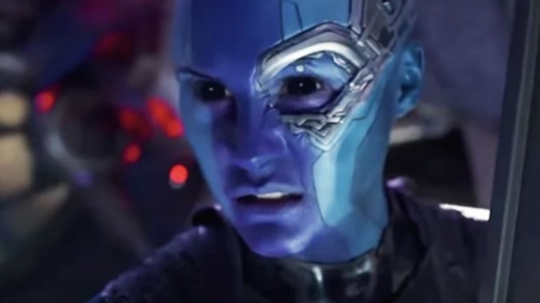 Karen Gillan plays the role of Nebula in the Marvel films