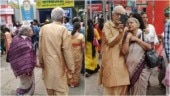 Bengal elderly couple hold hands, click selfie and win Internet in million-dollar Durga Puja pics
