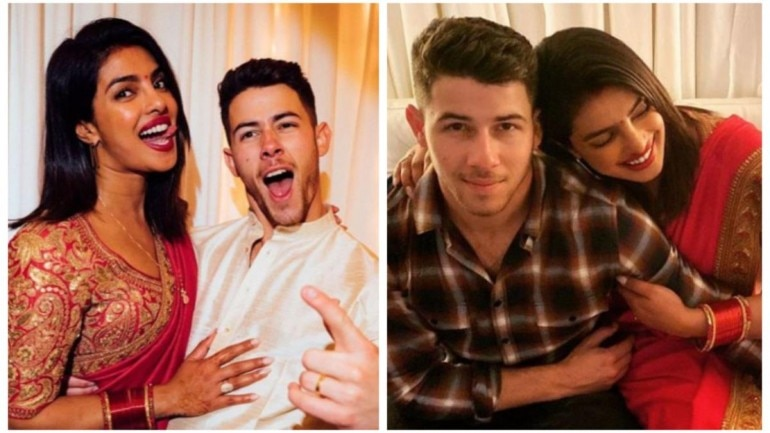 Priyanka Chopra and Nick Jonas celebrate their first Karwa Chawth together