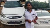 Andhra CM fan caught for faulty number plate