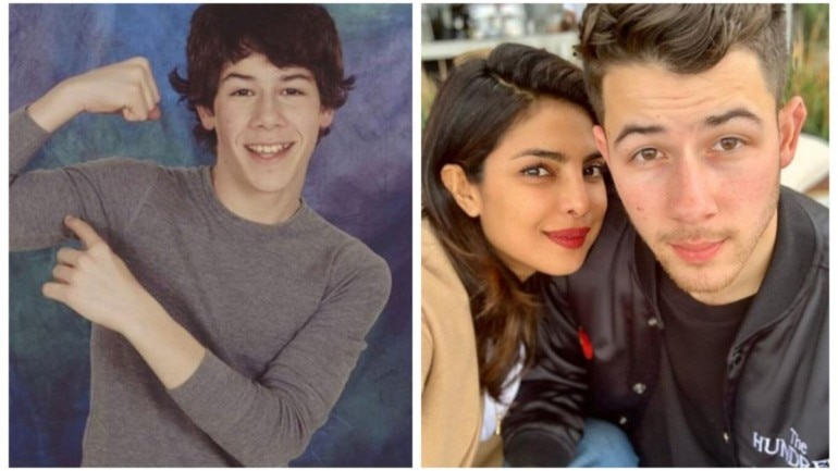 Nick Jonas shares childhood picture, Priyanka Chopra hearts it