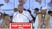 Maharashtra polls: Iconic white shirt soaked, rains no match for 79-year-old Sharad Pawar in Satara | Watch