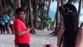 Taiwanese tourist wears string bikini to Philippines beach. Gets slapped with fine