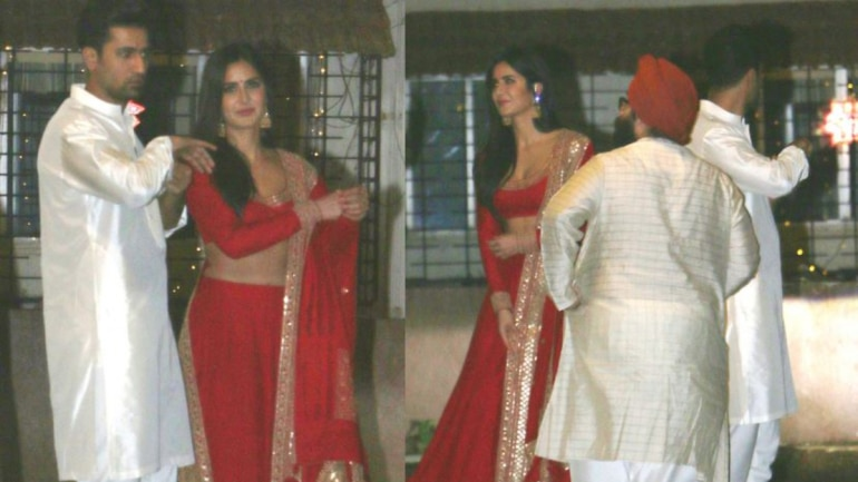 Vicky Kaushal and Katrina Kaif spotted together on Diwali. (Photo: Yogen Shah)