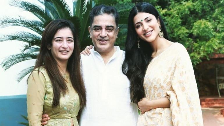 Akshara, Kamal and Shruti Haasan