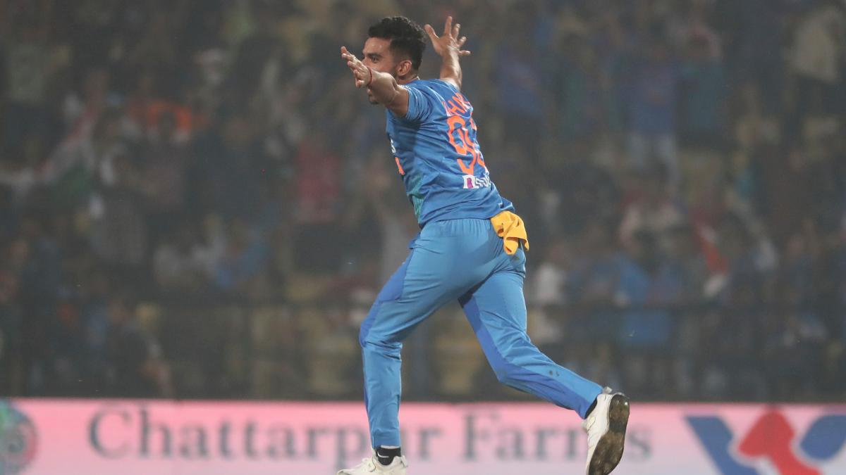 Deepak Chahar claims best-ever bowling figures in all T20Is during ...
