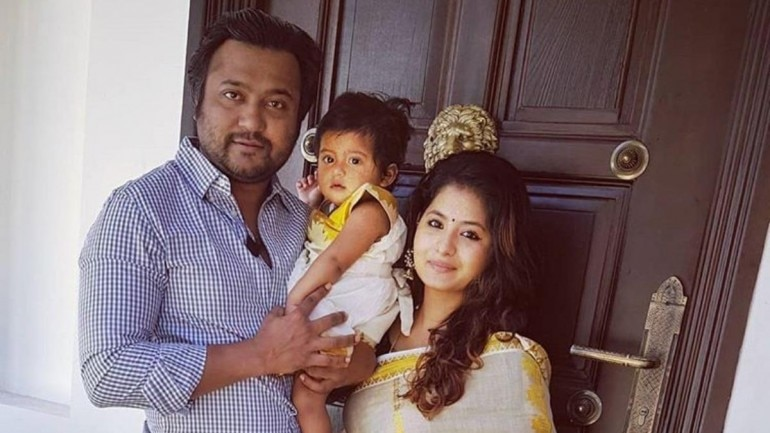 Bobby Simhaa and Reshmi with their daughter Mudhra