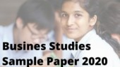 CBSE Class 12 Business Studies Sample Paper 2020