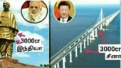 There is sea of difference between cost of this Chinese bridge and Statue of Unity