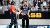 Hey you up there: Neesham reacts after New Zealand lose to England in World Cup final repeat