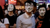 Hong Kong police fire tear gas to break up Halloween party protests