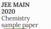 JEE Main 2020 Chemistry Sample Paper released: Direct link to download