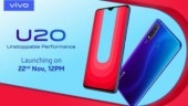 Vivo U20 India launch on Nov 22: Snapdragon 675, 5000mAh battery, and 18W fast charging support