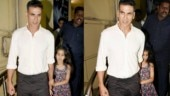 Akshay Kumar is a protective dad for Nitara as they step out for movie date. Watch video