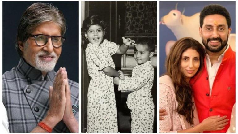 Amitabh Bachchan shares Abhishek and Shweta's childhood pic ...