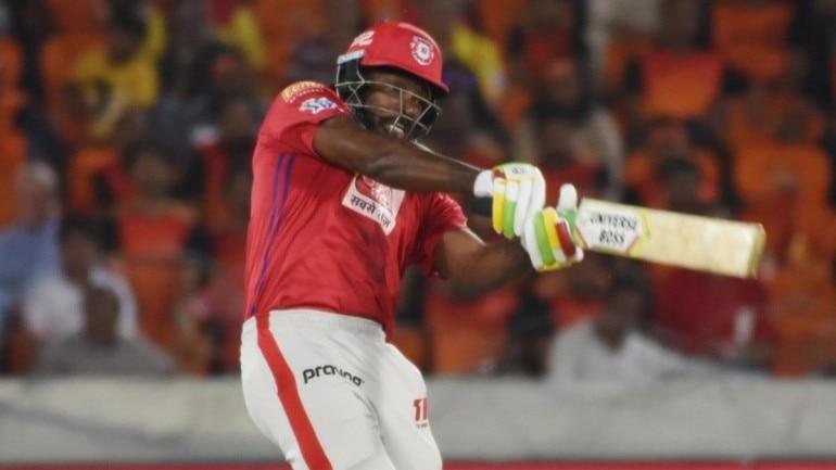 Chris Gayle in action for IPL franchise Kings XI Punjab. (IANS Photo)