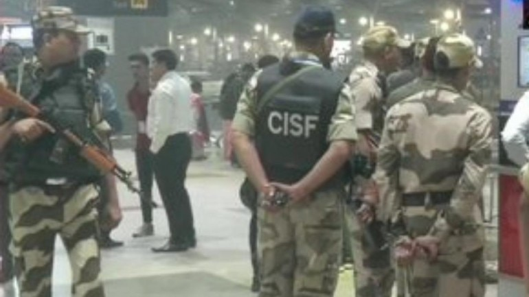 Police swung into action after recieving the call and a bomb disposal squad along with a dog squad were called to the spot immediately. (Photo: ANI)