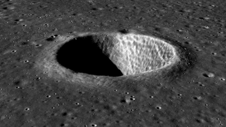 Chandrayaan-2's Topographic Mapping Camera images 3D view of crater on Moon