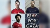 Fact Check: Morphed image of soccer stars goes viral with 'Pray for Gaza' message