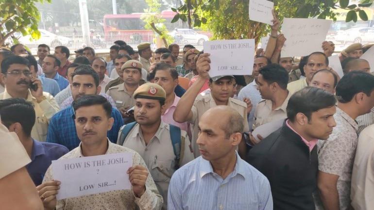 Delhi Police protest, tis hazari