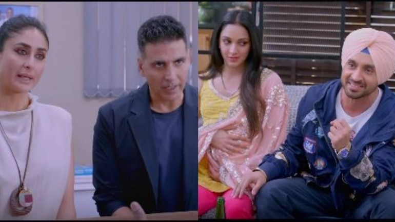 Good Newwz stars Akshay Kumar, Kareena Kapoor Khan, Kiara Advani and Diljit Dosanjh.
