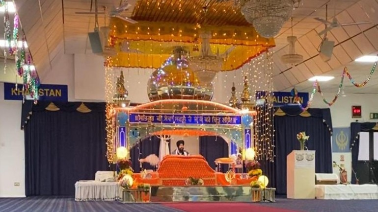 Gurudwara in UK's slough displays 2 Khalistan banners