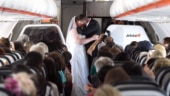 Couple gets married at 34,000 feet in air between Australia and New Zealand. Internet loves the idea
