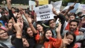 Students form human chain ahead of HRD ministry-appointed panel's visit to JNU