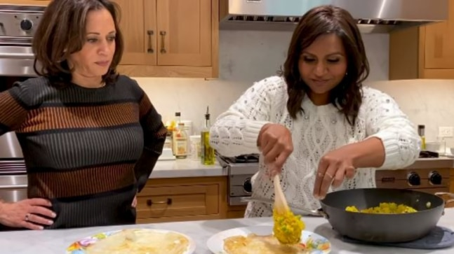 Kamala Harris cooks masala dosas with Mindy Kaling in viral video. Kal Penn's comment is every Indian RN