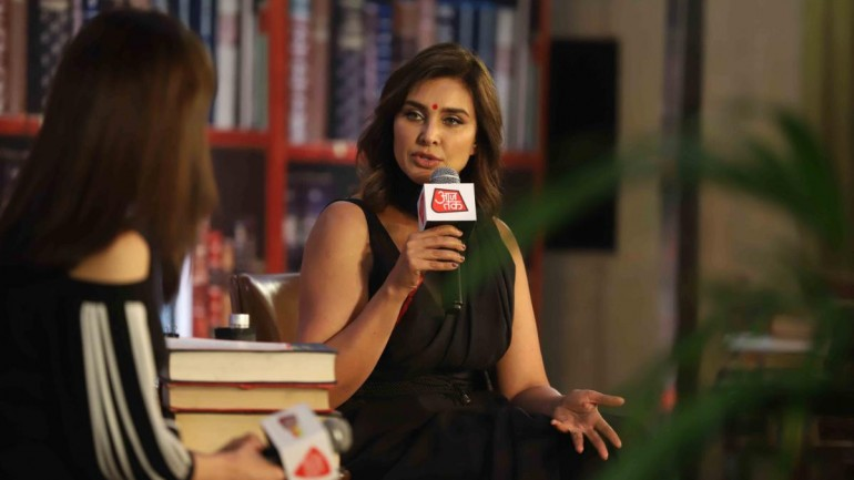 Lisa Ray at Sahitya AajTak 2019.