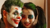 Milind Soman turns Joker for wife Ankita Konwar for Halloween 2019