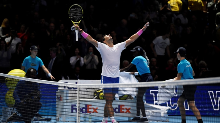 Super lucky: Rafael Nadal on stunning comeback win over Medvedev at ATP Finals