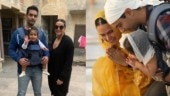 Neha Dhupia and Angad Bedi visit ancestral haveli and Golden temple on daughter Mehr's birthday