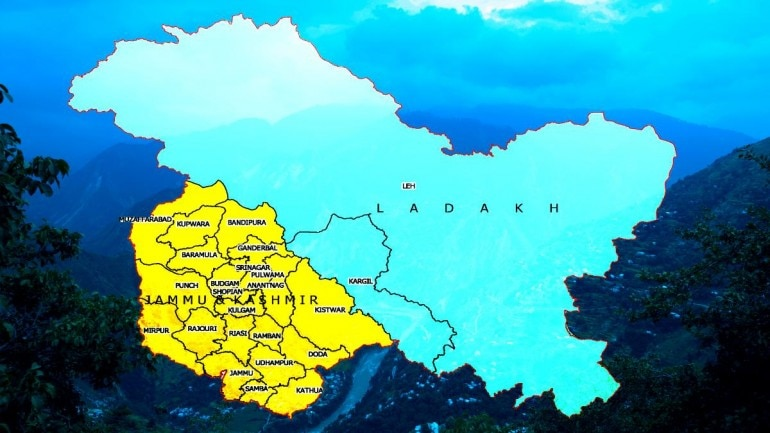 Maps of UTs of JK, Ladakh released; map of India depicting new UTs